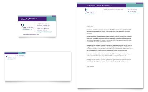 Insurance Letterhead Insurance Company Business Card Letterhead Template Design