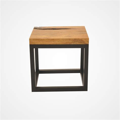 Wood Side Table Reclaimed Wood Side Table Mango Top Rotsen Furniture