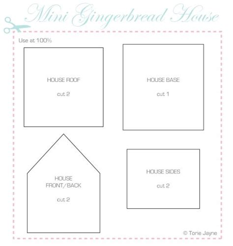 simple gingerbread house template printable miniature halloween printables polymer clay mini