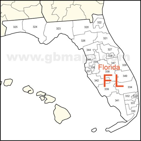 zip code map florida usa zip code and state maps editable maps of america