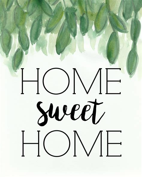 Sweet Home home sweet home free printable miss homebody