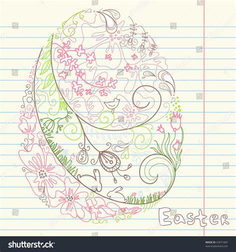 doodle resurrection easter doodles stock vector illustration 47671687