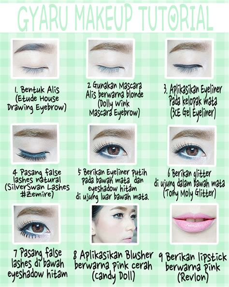 tutorial pensil alis wardah sasyachi beauty diary gyaru makeup tutorial ibb muc mei