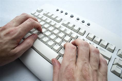 free stock photo hands over keyboard free stock photo 3951 two hand typing freeimageslive