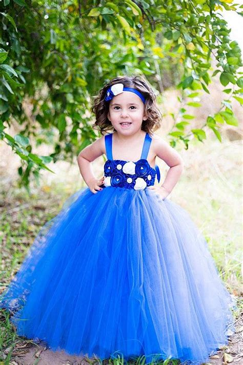 Dress Tutu White Blue Flower 4 6 Th Include Headbandgelangcincin the quot quot dress flower tutu dress royal blue and white flower tutu white