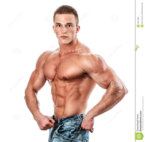 best products for bodybuilding bodybuilder isolated on white stock image image of