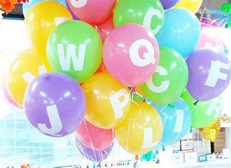 Alphabet Balloon personalised alphabet balloons