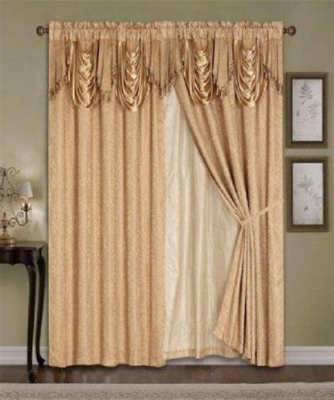 luxury window curtains and drapes details about luxury window curtain 4pc drapes liner