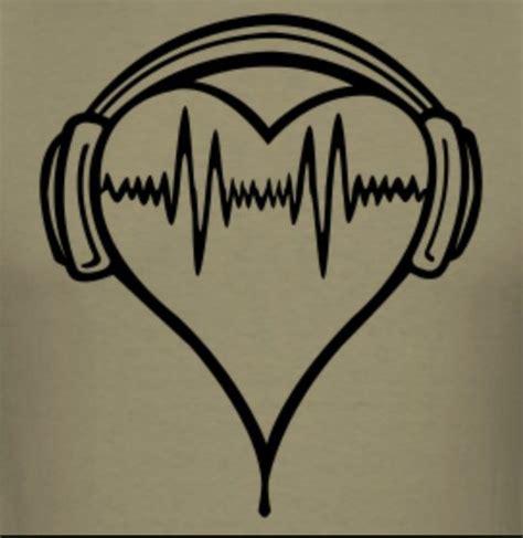 heartbeat headphones tattoo heart with headphones tattoos pinterest