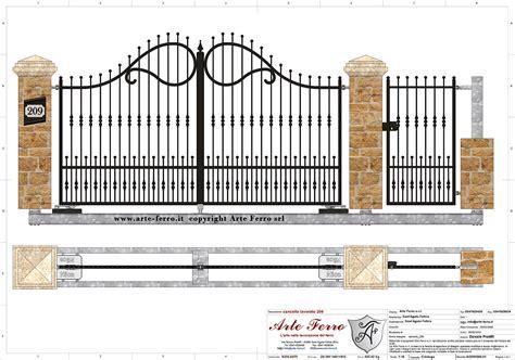 cancello ingresso cancello in ferro battuto 209