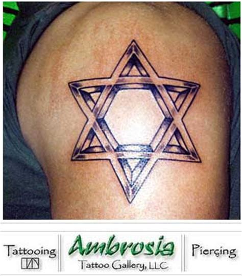 star of david tattoo of david of david