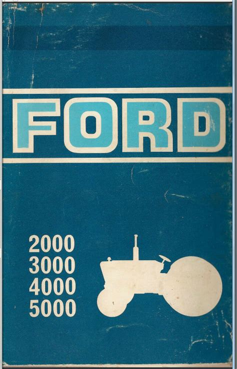Ford Tractor Service Manual 1965 1975 Series 2000 3000