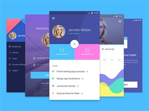 design application psd material design app template freebiesbug