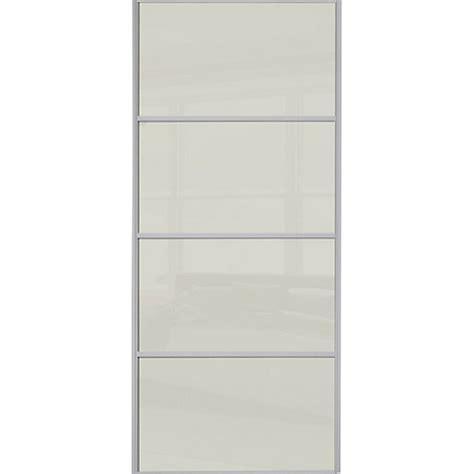 wickes wardrobe doors wickes sliding wardrobe door silver framed four panel soft white glass 2220 x 762mm wickes co uk