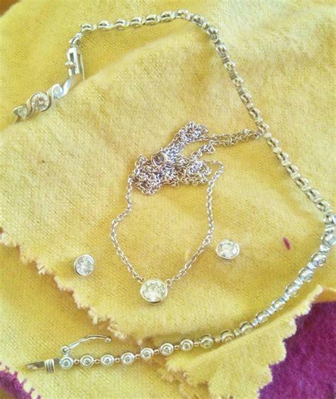 cadenas de oro blanco tiffany collar diamante tipo tiffany 50ct 40cm en oro blanco 14k