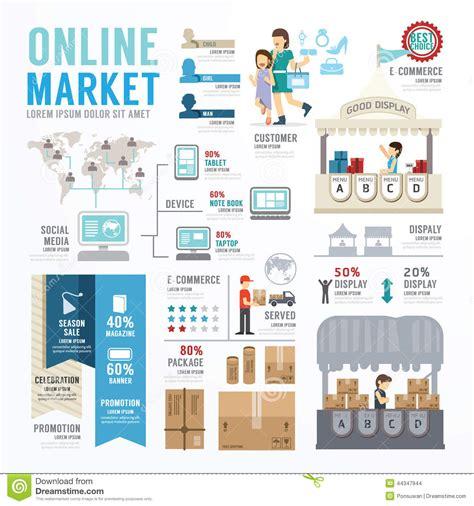 design online market business market online template design infographic