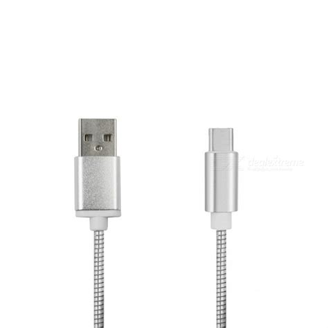 Kabel Stainless Steel Type C mini smile stainless steel type c charging data cable for gopro 5 free shipping dealextreme