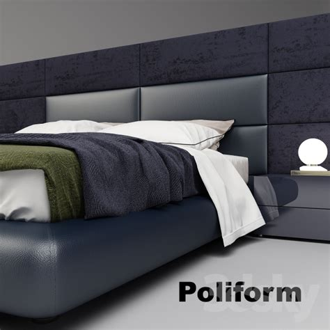 dream bed 3d models bed poliform dream bed