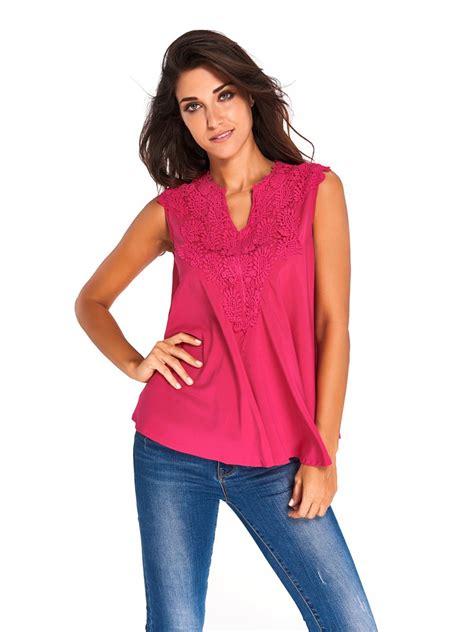 V Neck Embroidered Top embroidered applique v neck blouse top e25760 6