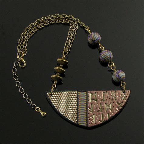 clay for jewelry polymer clay statement necklace tribal necklace polymer
