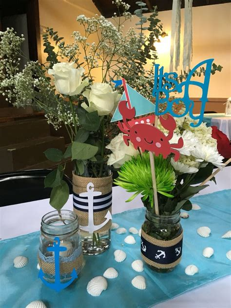 sailor themed centerpieces nautical baby shower centerpieces nautical baby shower baby showers the o jays