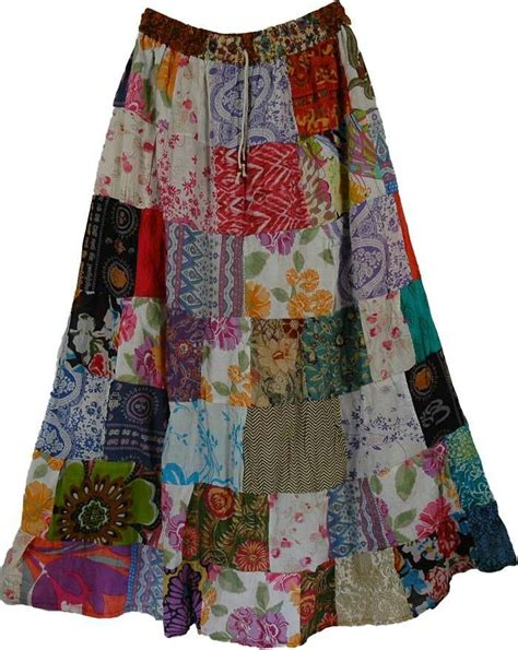 Patchwork Hippie Skirts - best 25 patchwork skirts ideas on 70s vintage