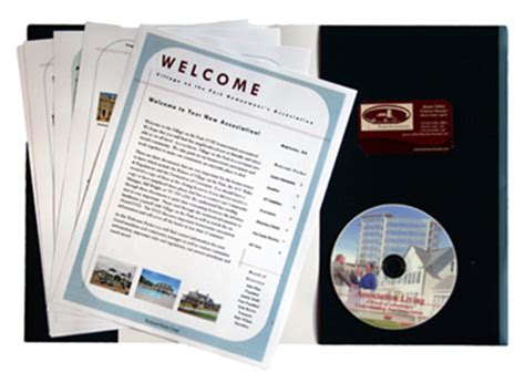 welcome packet template complete hoa resource hoa education dvd welcome packet