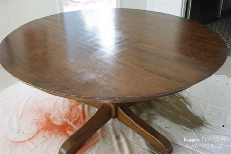 how to refinish a table without sanding or stripping