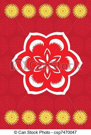 new year flower pattern new year flower pattern royalty free eps clip