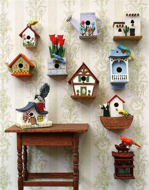 diy como hacer casitas portatarjetas decorar con casitas de pajaritos