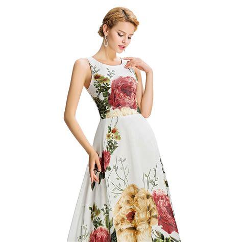 pattern night dress long evening dress floral print sleeveless pattern night