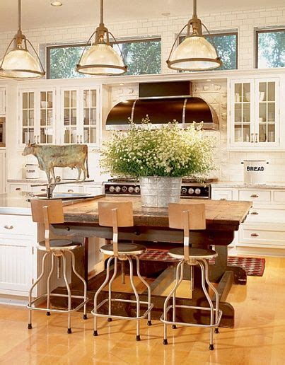 industrial farmhouse kitchen island farmhouse but what i really is the flower arrangement in the modern country