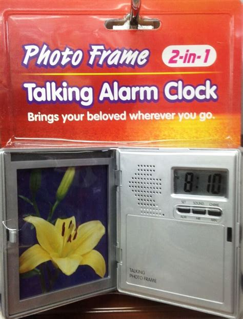 talking alarm clock photo frame table clock folding travel alarm clock digital ebay