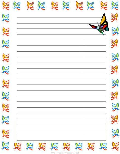 printable stationery for elementary students free printable writing paper for elementary writing