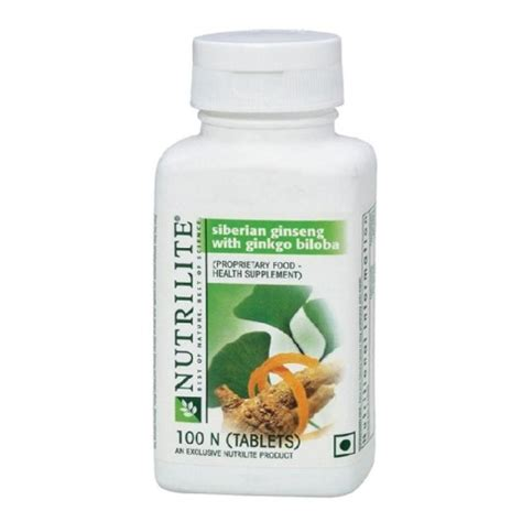 Nutrilite Siberian Ginseng With Ginkgo Biloba amway nutrilite siberian ginseng with ginkgo biloba 100 tablet s in india healthkart