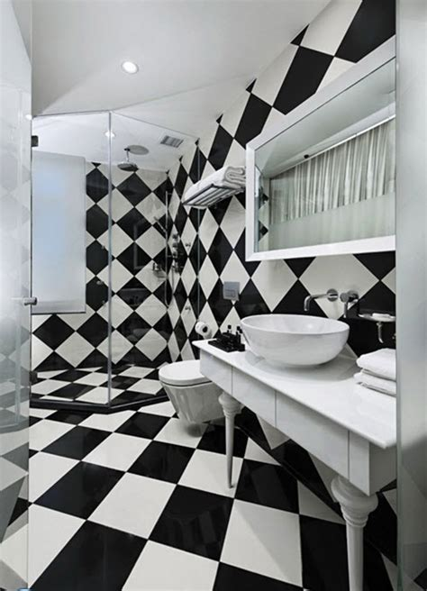black and white checkered bathroom floor 31 black and white checkered bathroom tile ideas and pictures