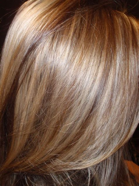 caramel lowlights blonde hair golden blonde and dark blonde highlights and lowlights