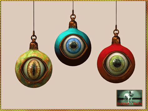 bliensen maitai creepy christmas ornaments sluniverse