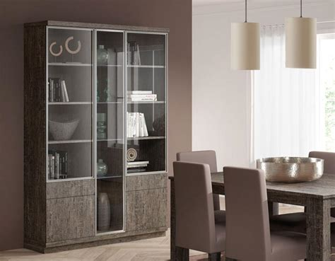 Contemporary Display Cabinets Uk Baixmoduls 3 Door Contemporary Display Cabinet With Glass