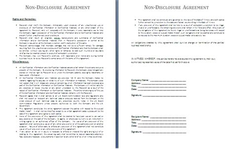 Non Disclosure Agreement Template By Agreementstemplates Org Exle Of Non Disclosure Agreement Template