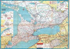map of southern canada southern ontario 1955