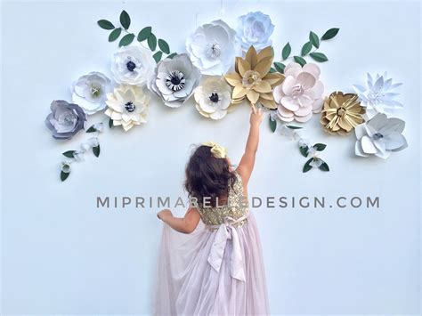 paper flowers wall decor large white paper flowers baby
