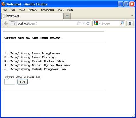 membuat hak akses menu dengan php membuat program menu dengan php menggunakan switch case