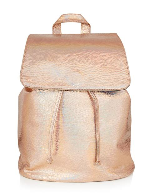 Ac 8490 Rosegold Pink Leather 1 gold chic backpack skinnydip