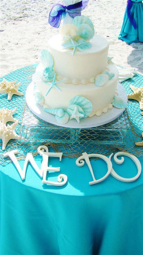 # aqua beach wedding cake   Wedding cakes   Pinterest