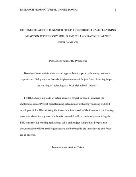 writing a prospectus for a research paper exle outline research paper outline for research
