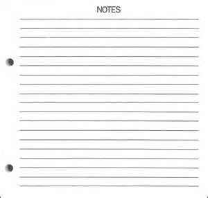 Notes Page Template by Printable Blank Notes Template Calendar Template 2016