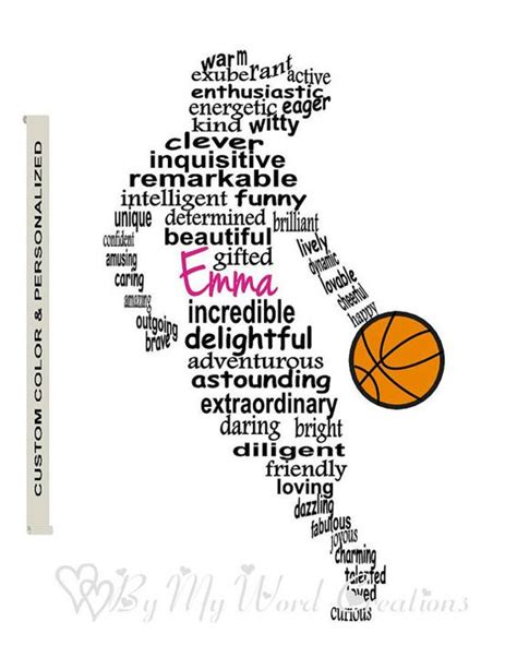 printable basketball quotes basketball player art girl basketball player word art