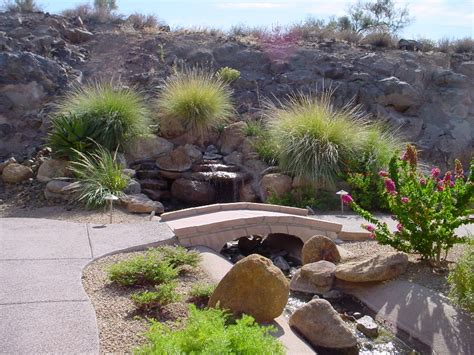 Desert Landscape Ideas For Backyards by Arizona Living Backyard Waterfalls In Water