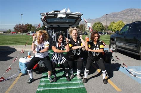 halloween tailgate themes trunk or treat football toss also makes a great family